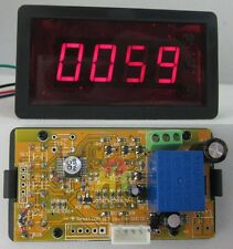 12V 4 digital Red LED Counter Meter Panel Plus Minus relay ON/OFF output control