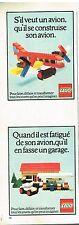 Publicité Advertising 1975 Jeu Jouets Lego