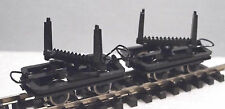 Roco 34602 - Narrow Gauge H0e/009 Bolster Truck Wagons Set (2 Wagons) - T48 Post