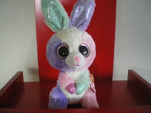 Ty Beanie Boos BLOOM the rabbit 6 inch NWMT.BRAND NEW. GREAT EASTER PRESENT.