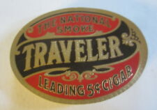 Wholesale Lot of 100 Old - TRAVELER - CIGAR Box Oval LABELS - The National Smoke