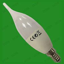 10x 6W E14 SES Daylight White 6500K LED Bent Tip Candle Light Bulb Lamp