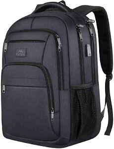 "Matein Men's Black 15.6"" Anti-Theft Business Travel Laptop Backpack School Bag"