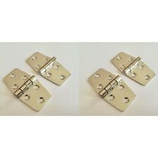 Pair Stainless Steel Mirror Polished AISI 316 Wing Hinge 75mm X 40mm Boat