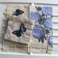 Decoupage Wedding Vintage Napkin Paper Tissue Blue Hydrangea Flower Servilletas