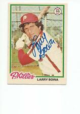 LARRY BOWA Autographed Signed 1978 OPC card Philadelphia Phillies COA