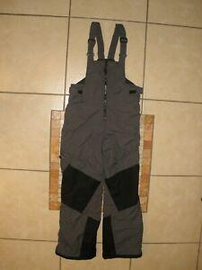Columbia Gray Black Snow Ski Pants Bibs suspenders Vertex Youth Kids XL 18-20