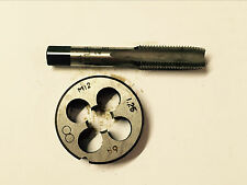 1pc HSS Machine M12 X 1.25mm Plug Tap and 1pc M12 X 1.25mm Die Threading Tool