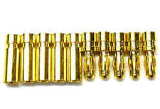 C0251 RC Connector 2.5mm Gold Plated Male and Female Bullet Banana x 5 Set