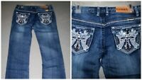 4004 Ladies Rhinestone Pants with Motorcycle Print