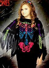 Morris Costumes Girls New Poncho Skeleton Halloween Quick Costume 4-14. Fw90395C