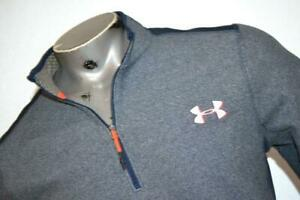 15202-a Mens Under Armour Golf Pullover Infrared Cold Gear 1/2 Zip Medium NEW