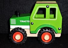 Farm Tractor - green - wooden toy