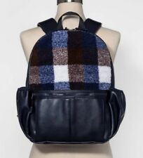NWT - Mossimo Supply Co.™ Navy Buffalo-Check Faux Sherpa Backpack