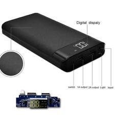 Universal 5V 2A 3 USB Ports Power Bank Case Kit DIY 8X 18650 Battery Charger Box