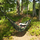 Portable 2 Person Hammock Rope Hanging Swing Fabric Camping Bed - Camouflage