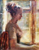 B Dunstan RA British Slade School Portrait of a Lady Signed Antique Oil Painting