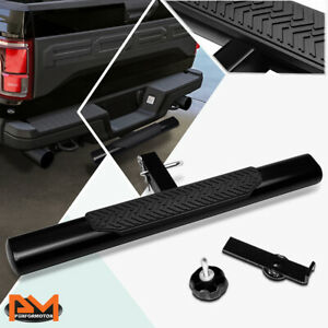 """35""""x 4"""" Oval 2""""Receiver Mild Steel Trailer Towing Tailgate Hitch Step Bar Black"""