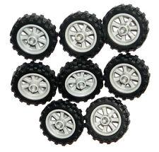☀️LEGO 8 MOTORCYCLE WHEELS NEW City Dirt Bike Wheels 50861 50862