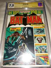 "Signed Batman #255 CGC SS 7.5 (1974) by Joe Giella - "" Death "" of Professor Milo"