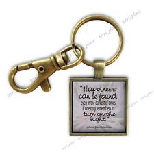Inspirational Quote Dumbledore Harry Potter Glass Top Clip On Gift Key Chain