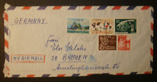 Japan 1963: Luftpostbrief air mail v. KOBE PORT n. Bremen, schöne Frankaturen