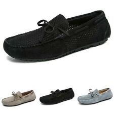 Men Pumps Slip on Loafers Bowknot Hollow out Breathable Driving Moccasins Shoe L
