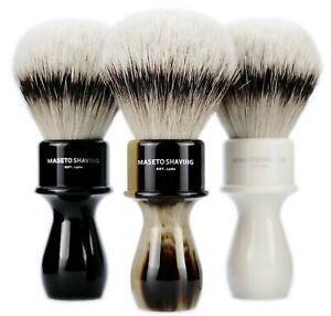 MASETO Memphis 24/26/28mm Extra Density 100% Silvertip Badger Hair Shaving Brush