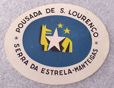 Vintage Rare ✱ S. LOURENÇO / PORTUGAL ✱ Hotel Luggage label Kofferaufkleber 50`