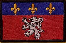 LYON FRANCE Flag Embroidered Iron-On Patch Military Emblem Black Border