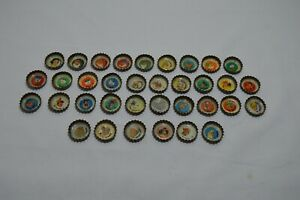 Rare Argentina Disney 1975 Lottery Lot 35 Pepsi Botte Caps with Characters