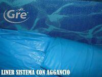 LINER PVC RICAMBIO PISCINA GRE OVALE CM 915X470X120 H CM COLORE AZZURRO AGGANCIO