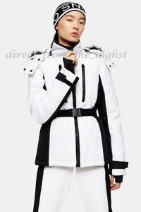 TOPSHOP SNO White And Black Colour Block Ski Jacket Sizes UK 4_6_8_10_12_14_16