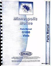Minneapolis Moline G1000 Tractor Parts Manual Catalog Vista