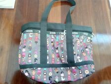 LeSportsac expandable tote large Rarely used no wear/tear Russian cute greyPrint
