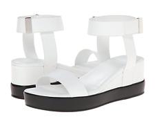 French Connection fcuk Petja white flatform platform wedge leather sandal 37 6.5