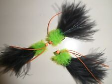 3x  LIME fritz tadpole cat orange silli legs fluo GOLDHEAD lures hayabusa761 #8