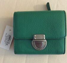 Fossil Riley Small Flap Wallet-Malachite Sl6617338-NWT