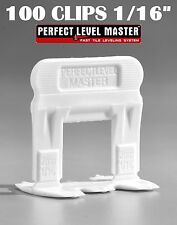 """1/16"""" T-Lock 100 Clips - Perfect Level Master  - Tile Leveling System spacers"""