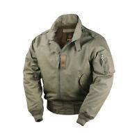 Vintage US Army CWU-45P Bomber Flight Jacket For Men Plus Size Cotton Moto Coat