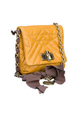 Lanvin Happy - Mini Leather Crossbody Bag Yellow, 6.5'' Retail $1685.