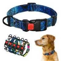 Smooth Nylon Small Large Dog Collars Lockable for Yorkie Pug Bulldog Labrador