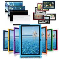 """7"""" Android 4.4 8GB+1G Dual Cameras Quad Core WiFi Kids Child Tablet PC For Gifts"""