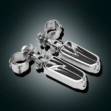 """1-1/4"""" Highway moteur garde colliers Mâle Support appui-pieds Repose-Pieds Pour Harley Bike"""
