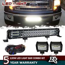 "FOR FORD F150 F250 F350 F450 PICKUP 21.5"" Inch 120W LED Lighting Bar + Wiring"