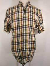 Cool Men's Medium Ralph Lauren Chaps Plaid Short Sleeve Button Shirt GUC