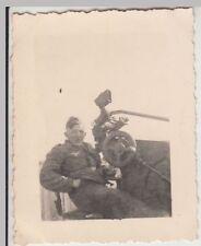 (F19432) Orig. Foto deutscher Soldat am MG-Stand 1930/40er