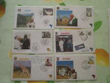 lot de 16 FDC voyage du pape jean paul II 1982 afrique et divers