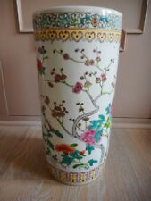 Vase rouleau roller porte parapluie chine chinesse china canton Famille Rose