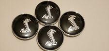 4x 60mm Wheel Rim Rims Center Hub Cap Caps For Ford Mustang Cobra Snake 3D Logo